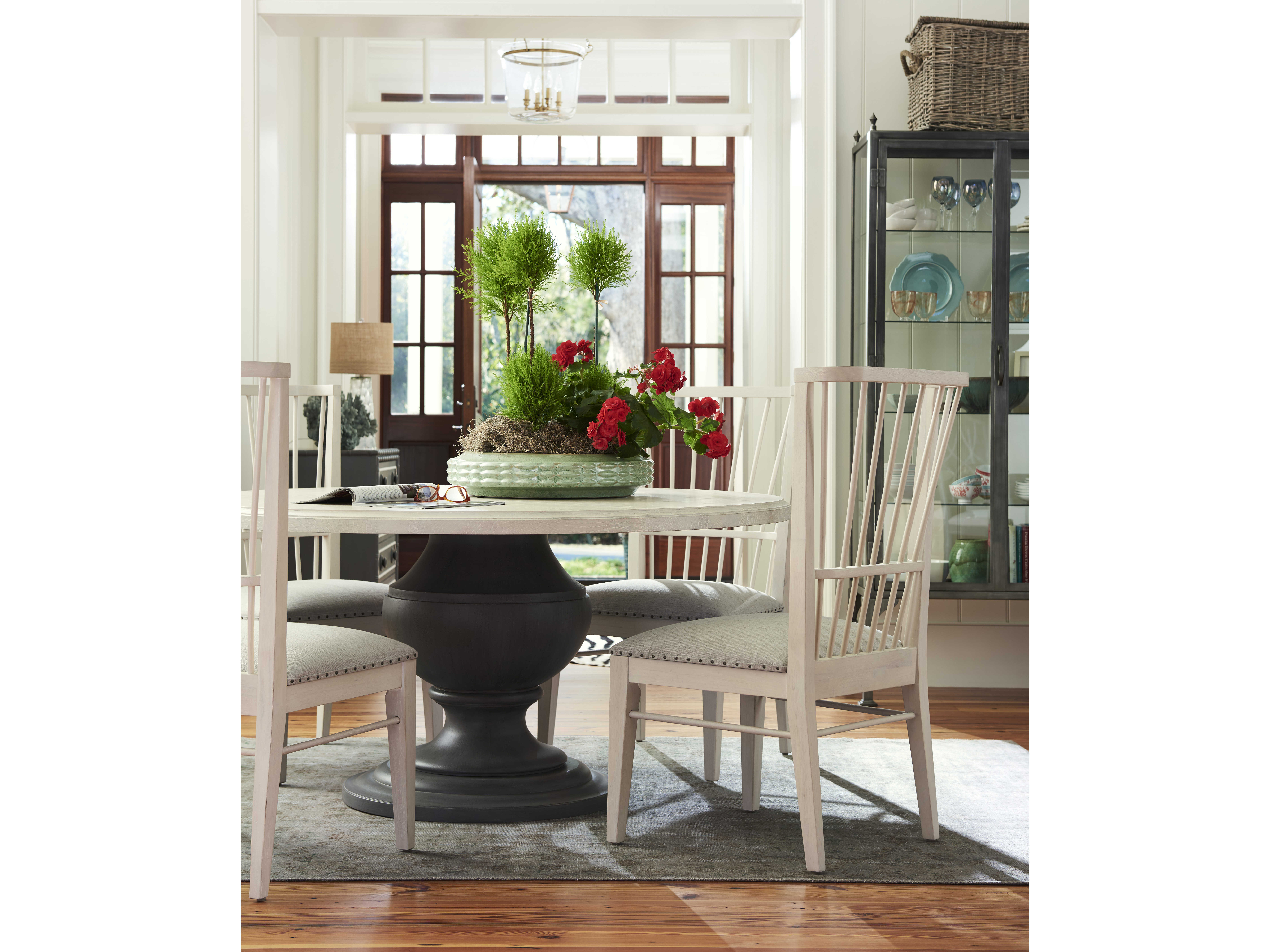 Paula Deen Home Bungalow White   Gray 61   Wide Round Dining Table    PDH795657. Paula Deen Home Bungalow White   Gray 61   Wide Round Dining Table