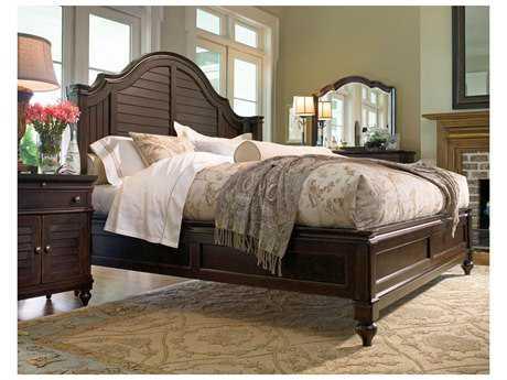 Paula Deen Home Tobacco Steel Magnolia Queen Panel Bed