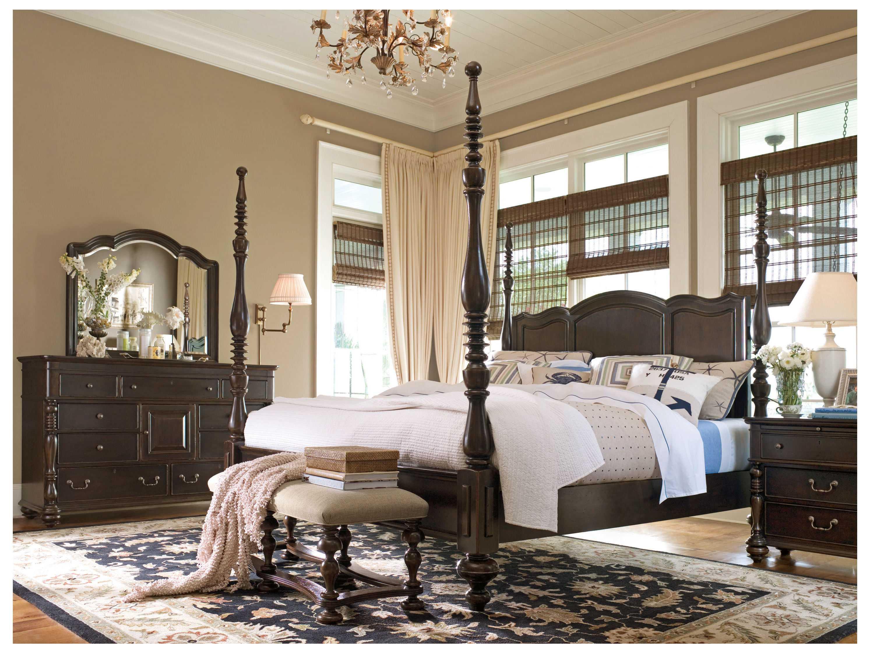 Paula deen home tobacco savannah queen poster bed pdh932250b - Paula deen tobacco bedroom furniture ...