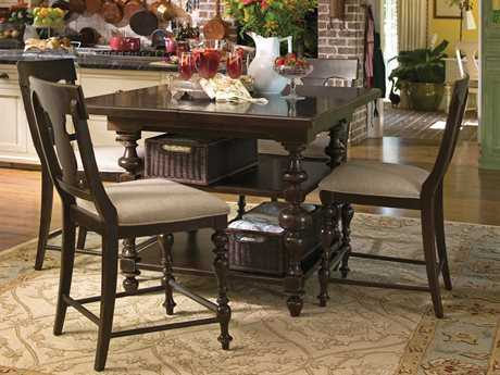 Paula Deen Home Tobacco 60'' Square Kitchen Gathering Counter Table