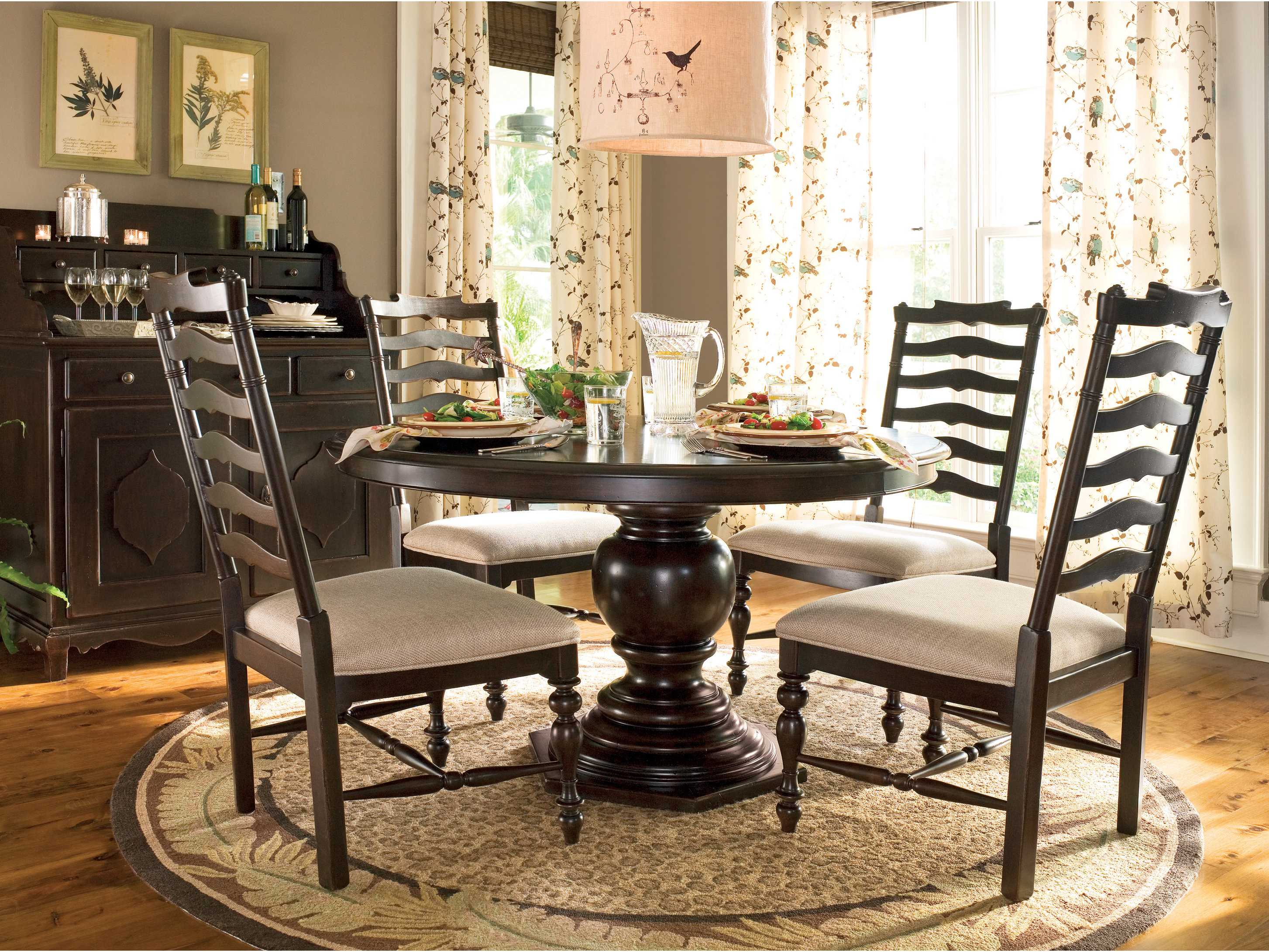 pedestal dining room table. Paula Deen Home Tobacco 72 X 54 Round Pedestal Dining Table Room