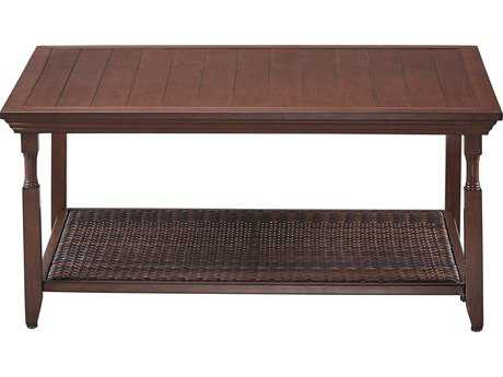 Paula Deen Outdoor River House 43.7 x 31.5 Coffee Table with Aluminum Slat Top PDO17003803