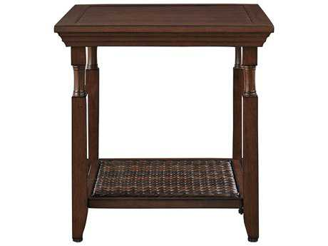 Paula Deen Outdoor River House 16.36 x 21.65 Rectangular Aluminum Slat End Table