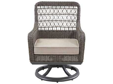 Paula Deen Outdoor Dogwood Wicker Swivel Dining Chair