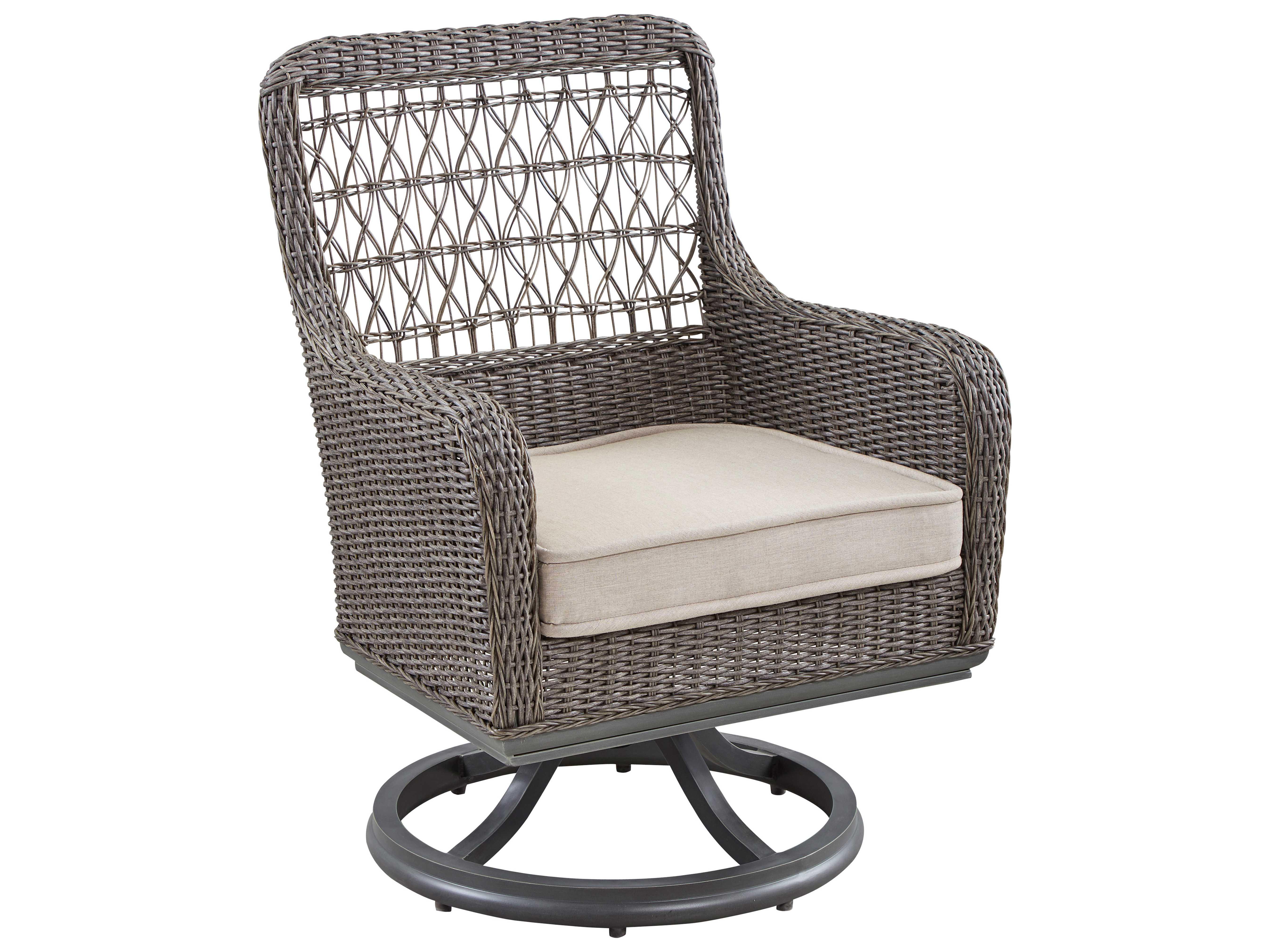 Paula Deen Outdoor Dogwood Wicker Swivel Dining Chair