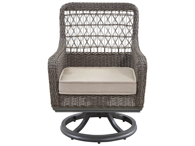 Astounding Paula Deen Outdoor Dogwood Wicker Swivel Dining Chair Squirreltailoven Fun Painted Chair Ideas Images Squirreltailovenorg