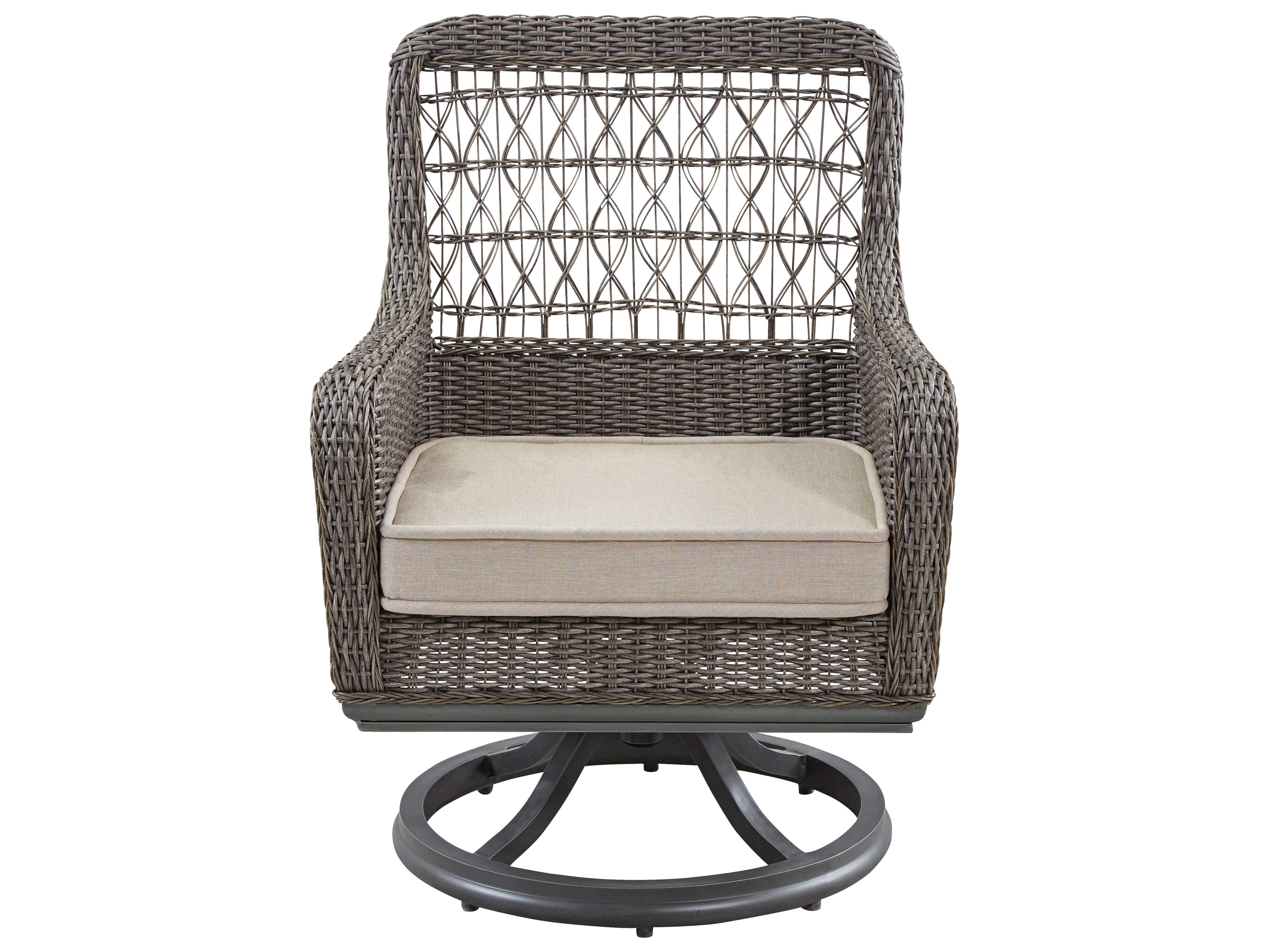 Cool Paula Deen Outdoor Dogwood Wicker Swivel Dining Chair Caraccident5 Cool Chair Designs And Ideas Caraccident5Info