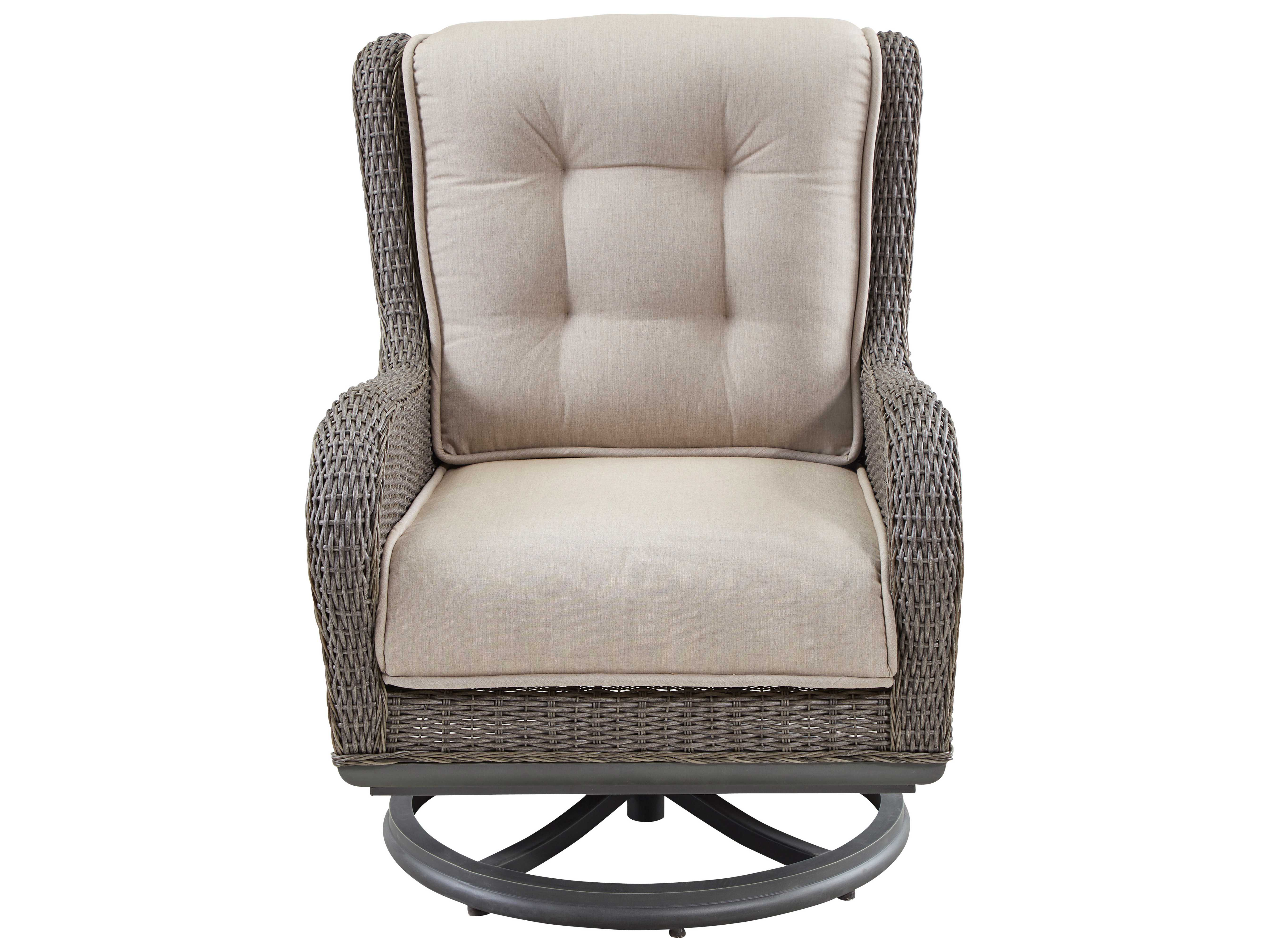 Terrific Paula Deen Outdoor Dogwood Wicker Swivel Lounge Chair Caraccident5 Cool Chair Designs And Ideas Caraccident5Info