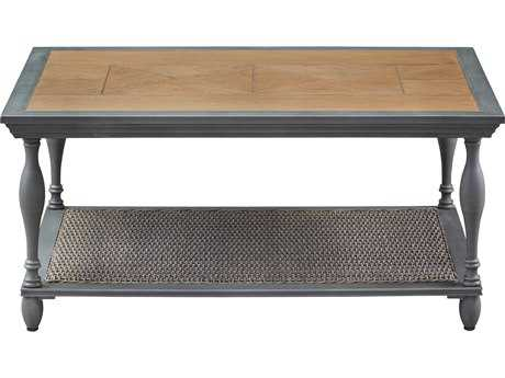 Paula Deen Outdoor Dogwood 44.09 x 32.09 Rectangular Aluminum Coffee Table PDO17003933