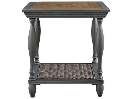 Paula Deen Outdoor Dogwood 22.05 Square Aluminum End Table