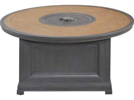Paula Deen Outdoor Dogwood 54 Round Aluminum Fire Pit Table with CF-20 Burner