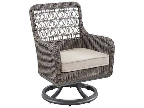 Paula Deen Outdoor Dogwood Wicker Swivel Dining Chair PDO17004114