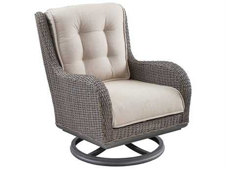 Paula Deen Outdoor Dogwood Wicker Swivel Lounge Chair