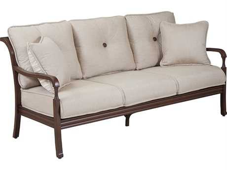 Paula Deen Outdoor River House Aluminum Sofa with Two Throw Pillows