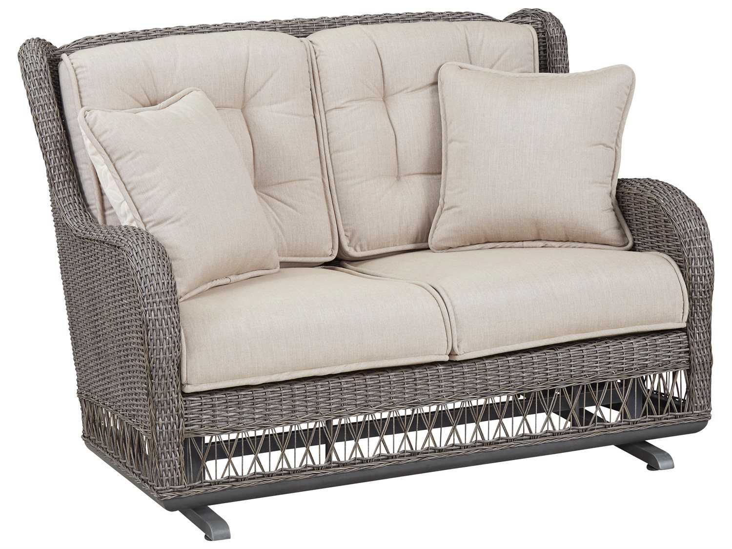 Paula Deen Outdoor Dogwood Wicker Loveseat Glider 17004190