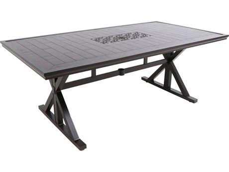 Paula Deen Outdoor Bungalow Tobacco Aluminum 80 x 42 Rectangular Dining Table PDO18008099