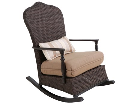 Paula Deen Outdoor Bungalow Tobacco Wicker Rocker Chair in Sailcloth Sisal Fabric