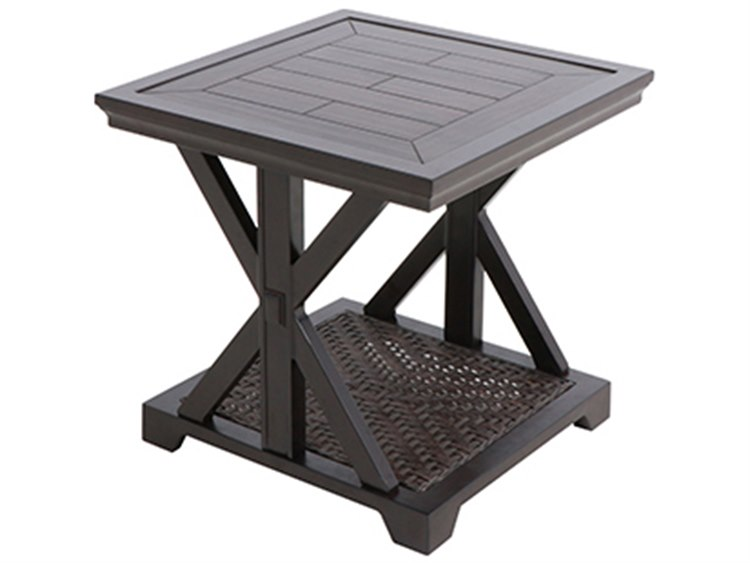 Paula Deen Outdoor Bungalow Tobacco Aluminum 22 Square End Table | 18008235