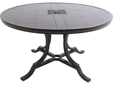 Paula Deen Outdoor Bungalow Tobacco Aluminum 54 Round Dining Table PDO18008242