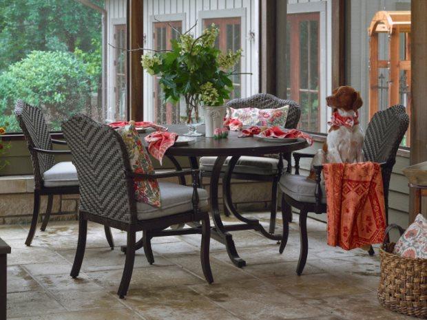 Paula Deen Kitchen Table Paula deen outdoor bungalow tobacco aluminum 80 x 42 rectangular view workwithnaturefo