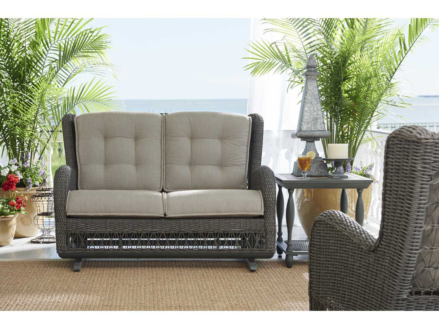 Paula Deen Outdoor Dogwood Wicker Loveseat Glider 17003889