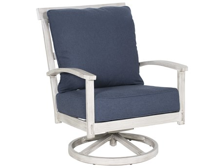 Castelle Biltmore Antler Hill Deep Seating Aluminum Ultra High Back Swivel Rocker Lounge Chair