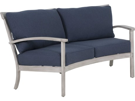 Castelle Biltmore Antler Hill Deep Seating Aluminum Crescent Love Seat