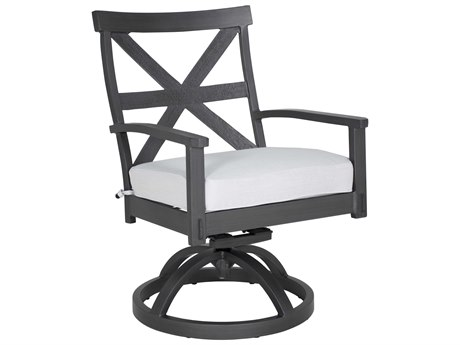 Castelle Biltmore Antler Hill Formal Aluminum Swivel Rocker Dining Chair