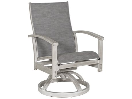 Castelle Biltmore Antler Hill Sling Aluminum Swivel Rocker Dining Chair
