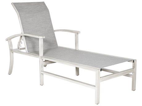 Castelle Biltmore Antler Hill Sling Aluminum Adjustable Chaise Lounge