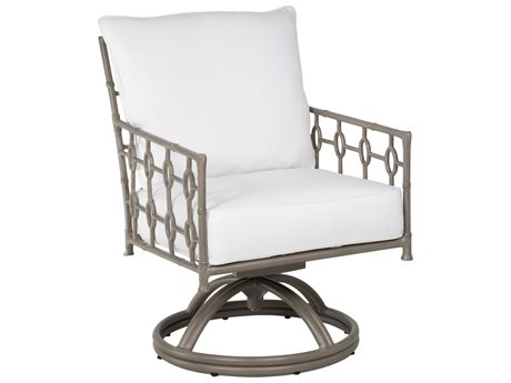 Castelle Barclay Butera Savannah Cushion Aluminum Swivel Rocker Dining Chair