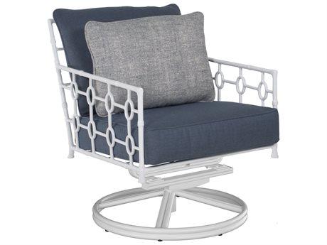 Castelle Barclay Butera Savannah Deep Seating Aluminum Swivel Rocker Lounge Chair