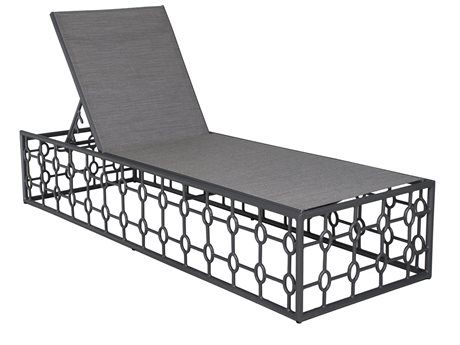 Castelle Barclay Butera Savannah Sling Aluminum Adjustable Chaise Lounge