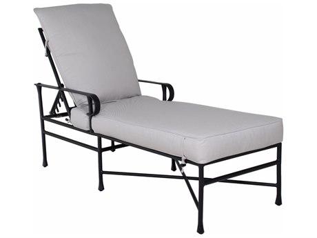 Castelle Bordeaux Cushion Cast Aluminum Adjustable Chaise Lounge