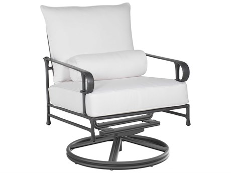 Castelle Bordeaux Deep Seating Cast Aluminum High Back Swivel Rocker Lounge Chair