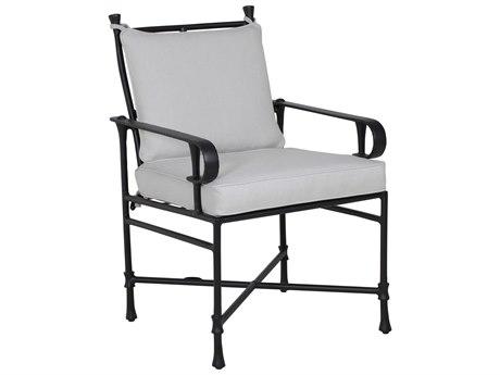Castelle Bordeaux Cushion Cast Aluminum Formal Dining Arm Chair