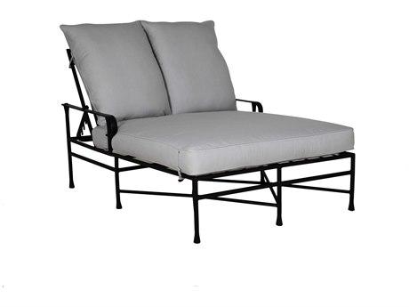 Castelle Bordeaux Cushion Cast Aluminum Adjustable Double Chaise Lounge