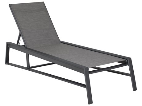 Castelle Prism Sling Aluminum Adjustable Chaise Lounge