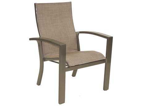 Castelle Orion Sling Cast Aluminum  Dining Chair