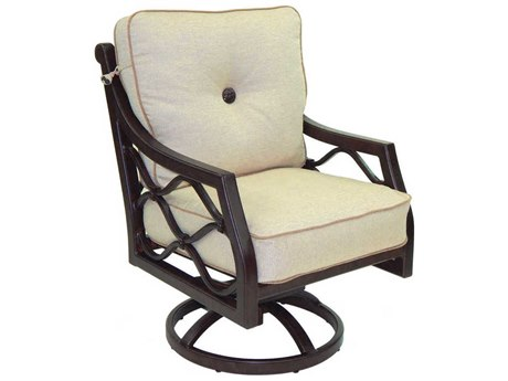 Castelle Villa Bianca Cushion Cast Aluminum Swivel Rocker PatioLiving