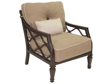 Castelle Villa Bianca Deep Seating Cast Aluminum Lounge Chair with One Kidney Pillow