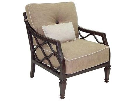 Castelle Villa Bianca Ultra High Back Deep Seating Cast Aluminum Lounge Chair