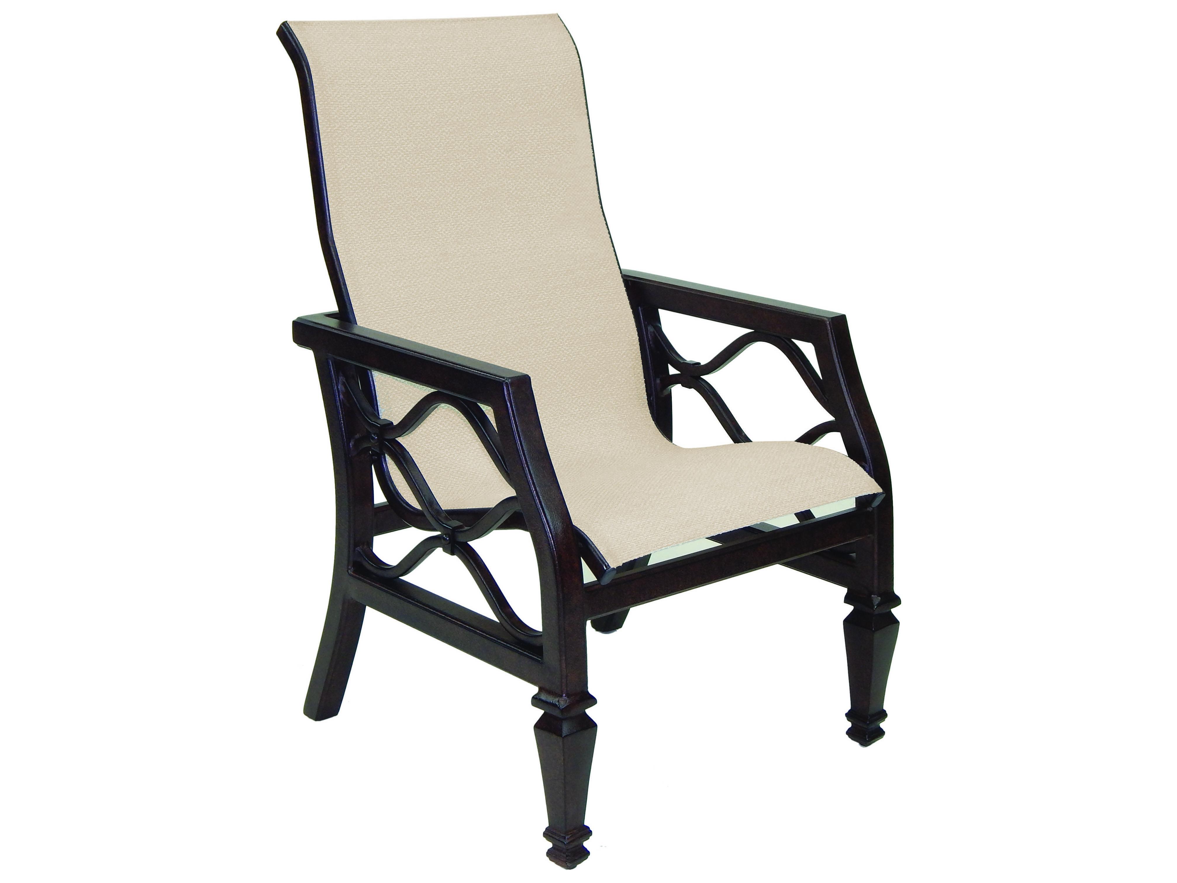 Castelle Villa Bianca Sling Cast Aluminum Dining Chair