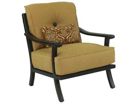 Castelle Chateau Cushion Cast Aluminum Lounge Chair with One Kidney Pillow