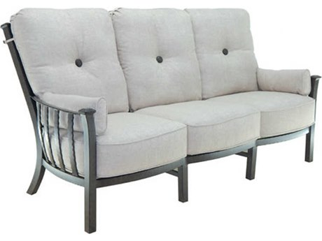 Castelle Santa Fe Deep Seating Cast Aluminum Ultra High Back Lounge Sofa with Two Side Pillows
