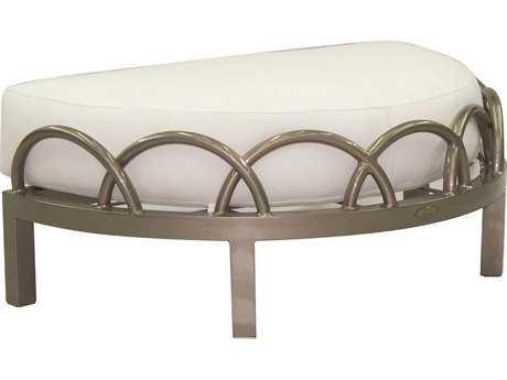 Castelle Argento Deep Seating Cast Aluminum Cushioned Ottoman