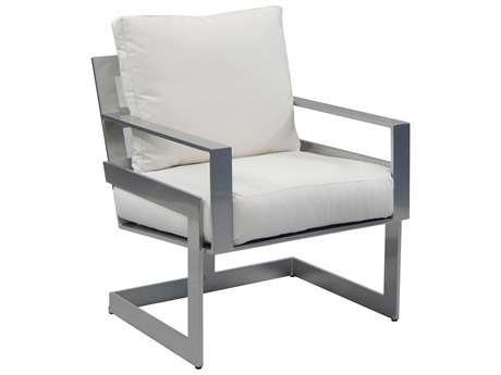 Castelle Eclipse Cushion Dining Cast Aluminum Dining Chair
