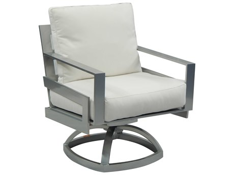 Castelle Eclipse Cushion Dining Cast Aluminum Swivel Rocker