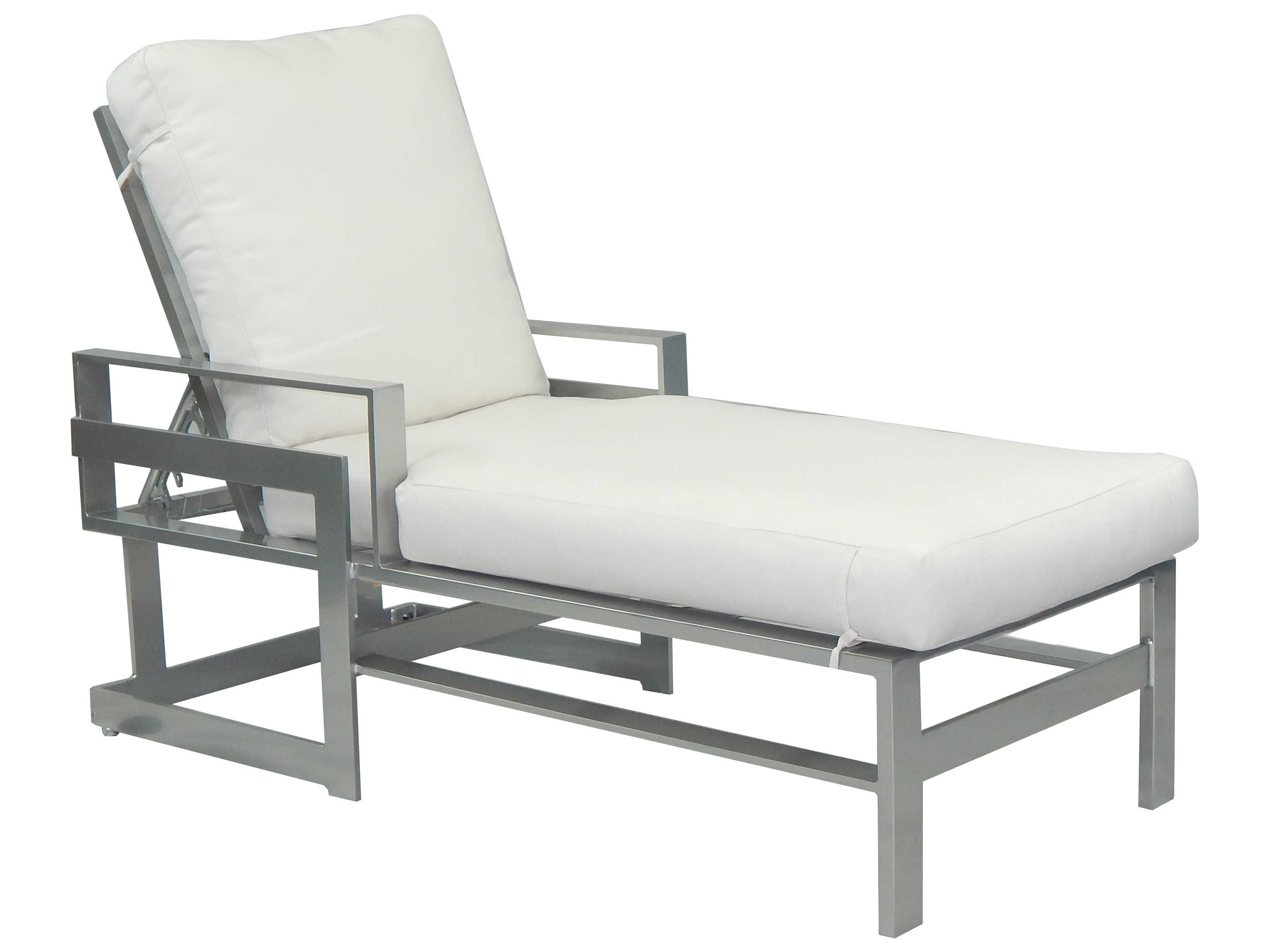 Castelle eclipse cushion dining cast aluminum adjustable for Chaise lounge aluminum