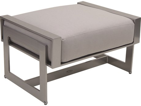 Castelle Eclipse Deep Seating Cast Aluminum Cushion Ottoman